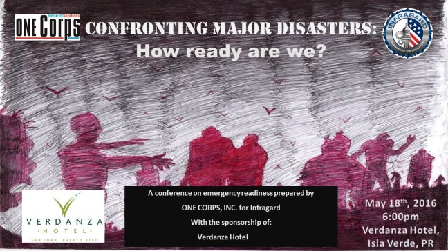 Confronting Major Disasters Poster w Date and HV
